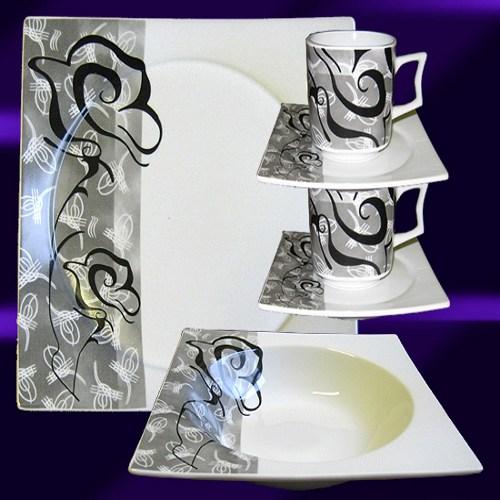 Prix service de table complet ''kuài'' pour 6 personnes pas cher Pearl.be