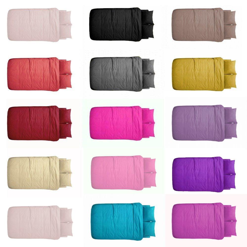 luxus 2 tlg bettw sche bettgarnitur baumwolle renforce 135x200 cm einfarbig uni ebay. Black Bedroom Furniture Sets. Home Design Ideas