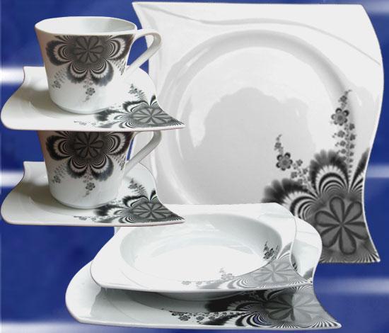 73 tlg geschirr tafel service kaffeeset kombiservice. Black Bedroom Furniture Sets. Home Design Ideas