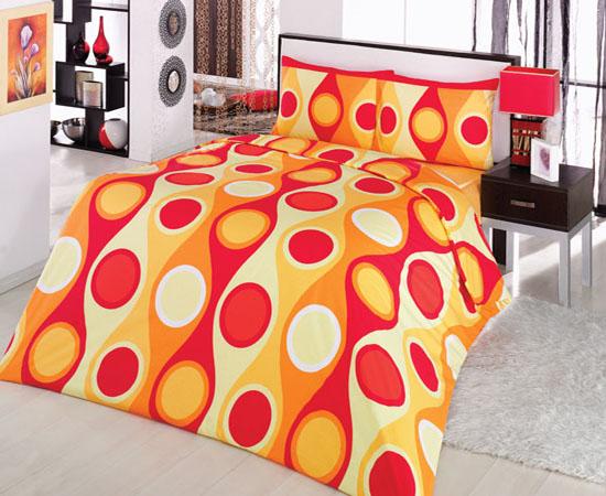 5 tlg bettw sche bettgarnitur baumwolle bettbezug 200x200 cm damla orange neu ebay. Black Bedroom Furniture Sets. Home Design Ideas