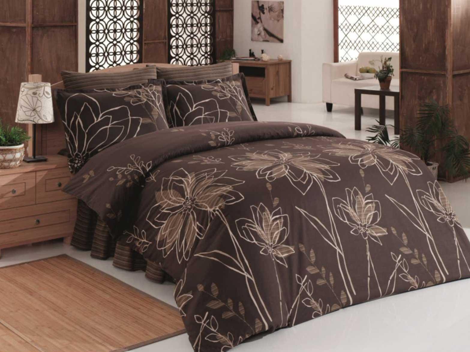 5 tlg bettw sche bettgarnitur 100 baumwolle kissen 200x200cm krizantem 02 neu ebay. Black Bedroom Furniture Sets. Home Design Ideas