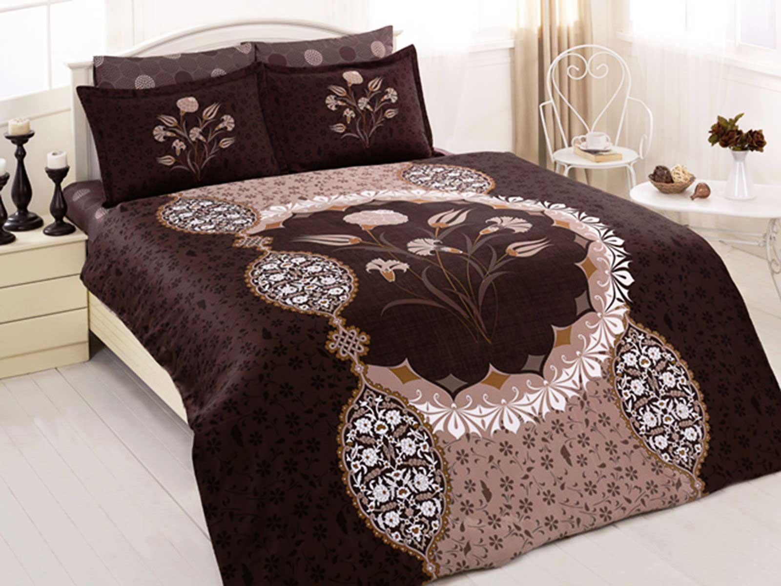 6 tlg mako satin baumwollsatin bettw sche bettgarnitur. Black Bedroom Furniture Sets. Home Design Ideas