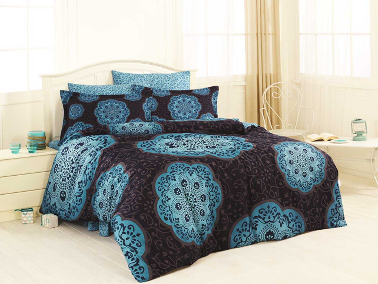 6 tlg bettw sche bettgarnitur satin 100 baumwolle 200x220 cm perfect 3 farben ebay. Black Bedroom Furniture Sets. Home Design Ideas