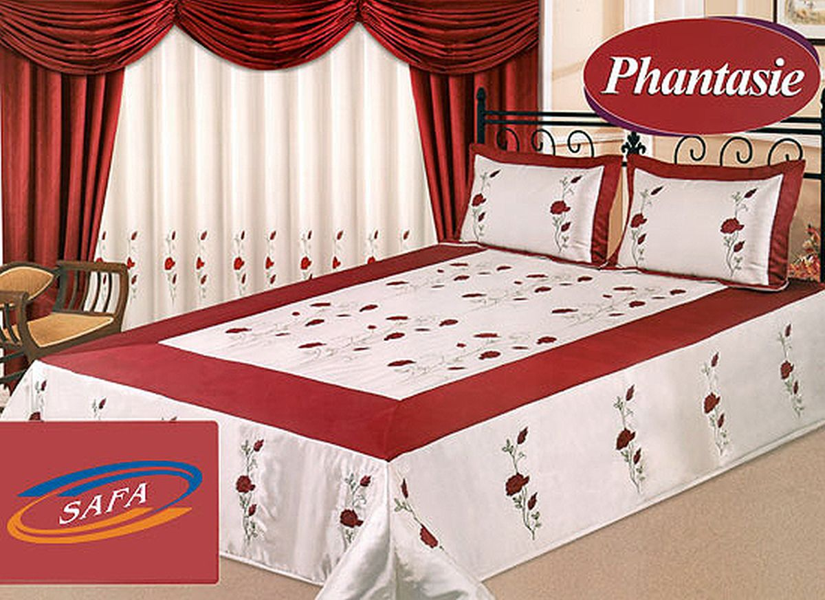 9tlg luxus tagesdecke vorh nge gardine phantasie neu. Black Bedroom Furniture Sets. Home Design Ideas