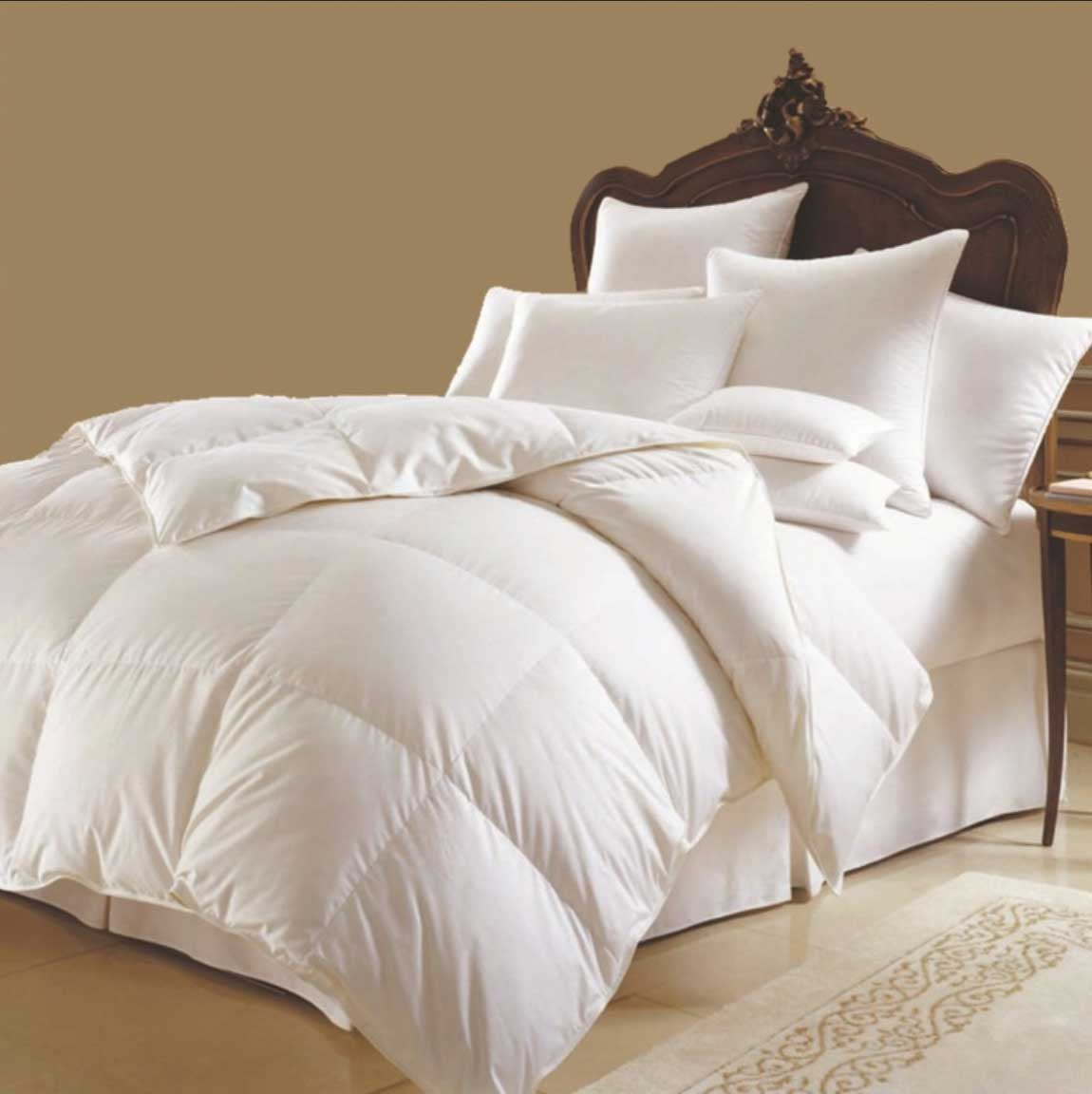 luxe couette blanche oreiller cotton silicone set 4 saisons 220x240 cm ebay. Black Bedroom Furniture Sets. Home Design Ideas