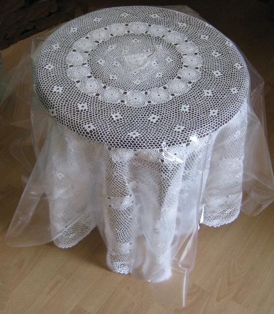tischdecken rund 180 cm handarbeit weiss baumwolle neu ebay. Black Bedroom Furniture Sets. Home Design Ideas