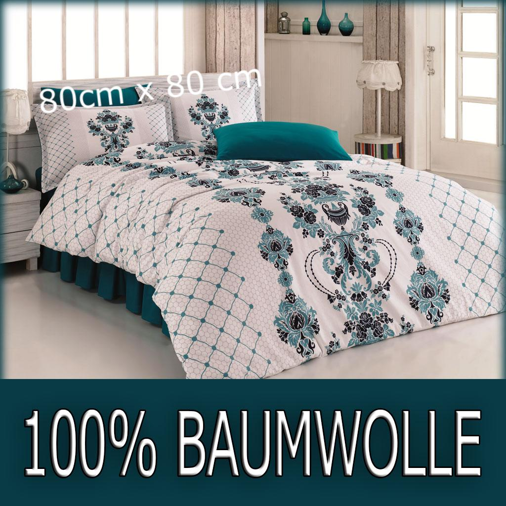 6 tlg bettw sche bettgarnitur 100 baumwolle satin 200x220 cm schw beige 80101 ebay. Black Bedroom Furniture Sets. Home Design Ideas