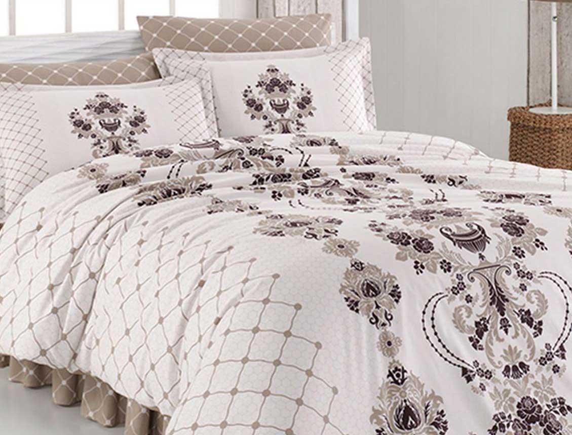 4 tlg bettw sche bettgarnitur 100 baumwolle kissen 200x220 cm vintage 02 neu ebay. Black Bedroom Furniture Sets. Home Design Ideas