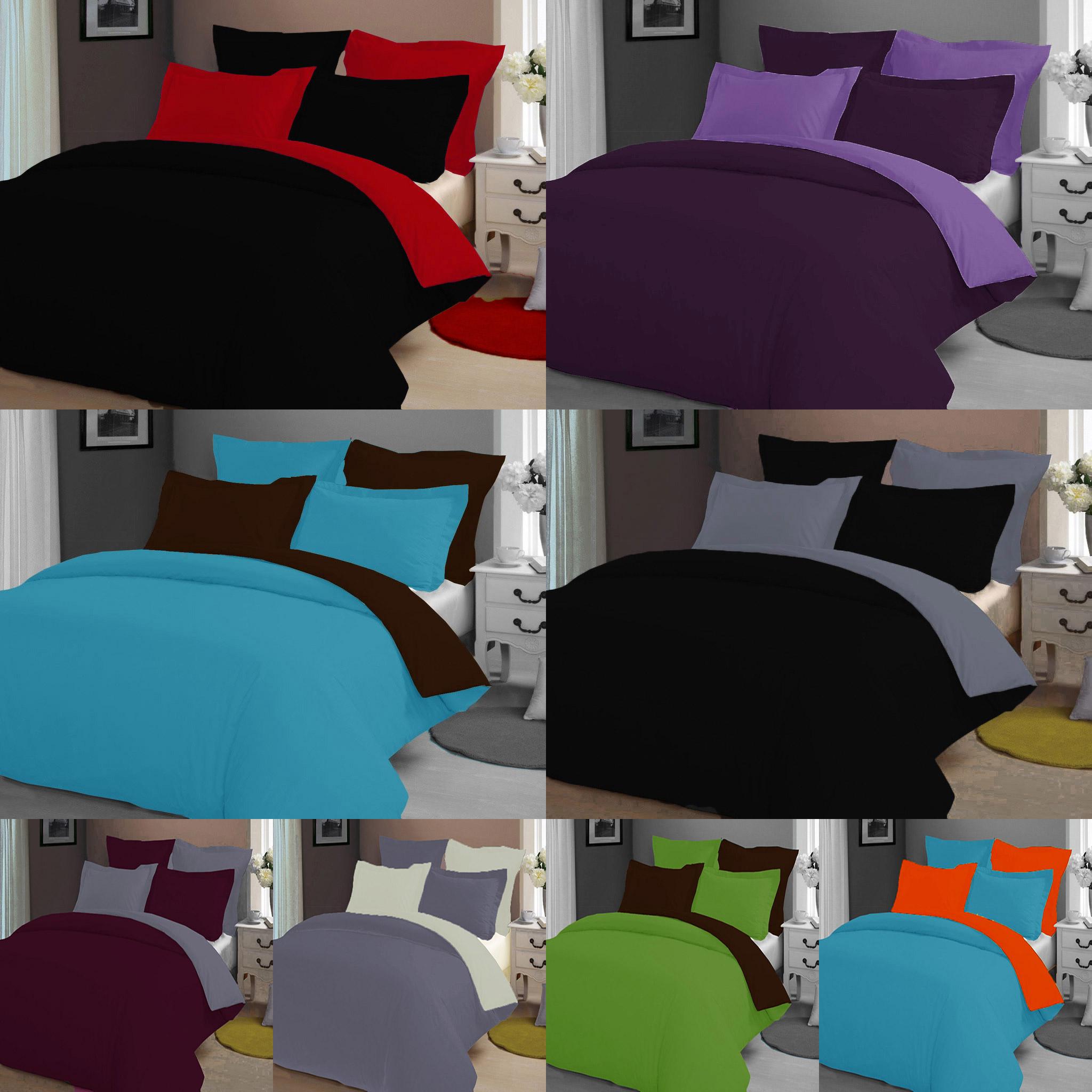 5 tlg bettw sche wendebettw sche 100 baumwolle 200x200 cm viele farben top ebay. Black Bedroom Furniture Sets. Home Design Ideas