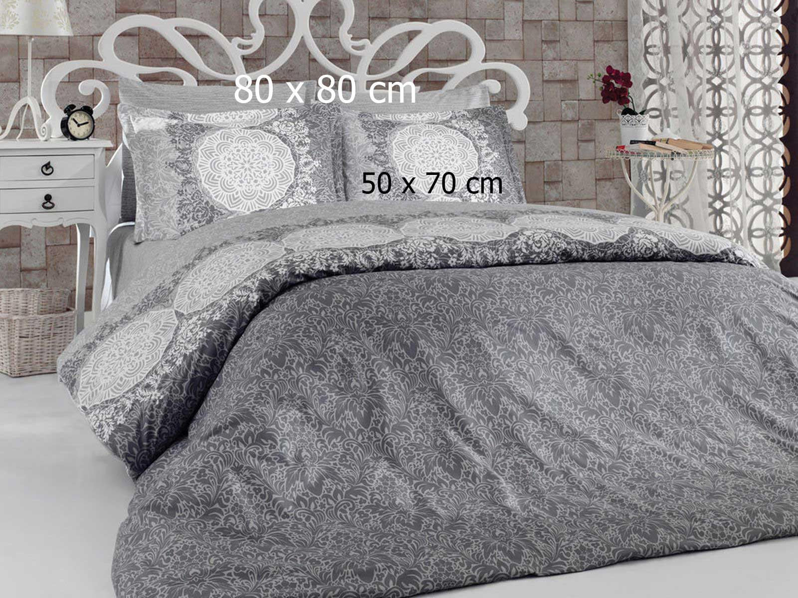 6 tlg bettw sche bettgarnitur 100 baumwolle kissen decke 200x220cm z mr t grau ebay. Black Bedroom Furniture Sets. Home Design Ideas