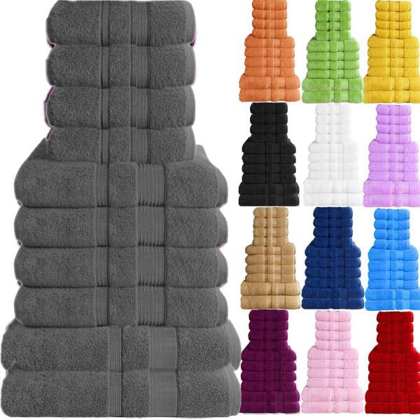10er Set Handtuch Badetuch Gästetuch Baumwolle