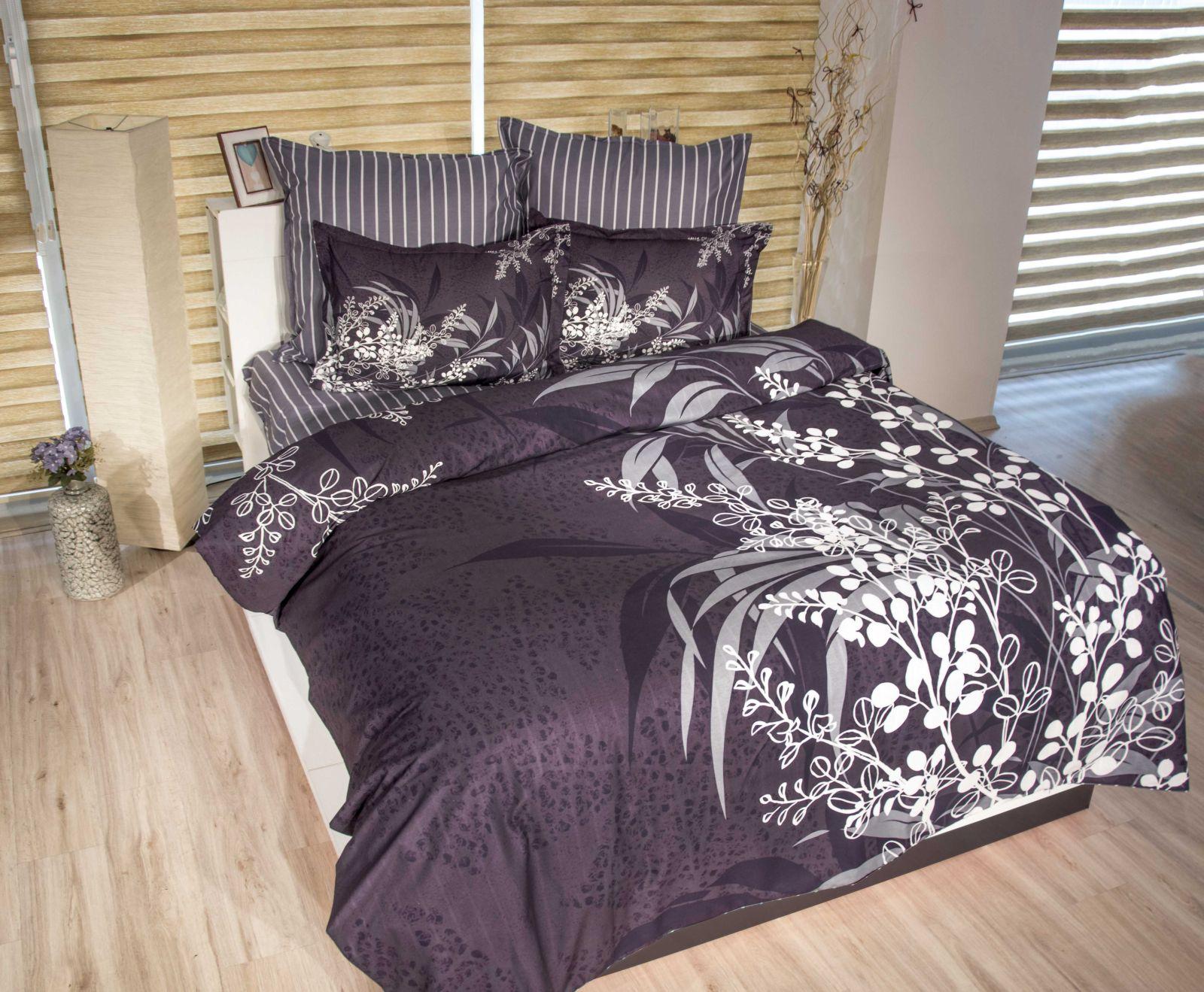 5 tlg bettw sche bettgarnitur bettbezug 100 baumwolle kissen 200x200 cm akasy g ebay. Black Bedroom Furniture Sets. Home Design Ideas