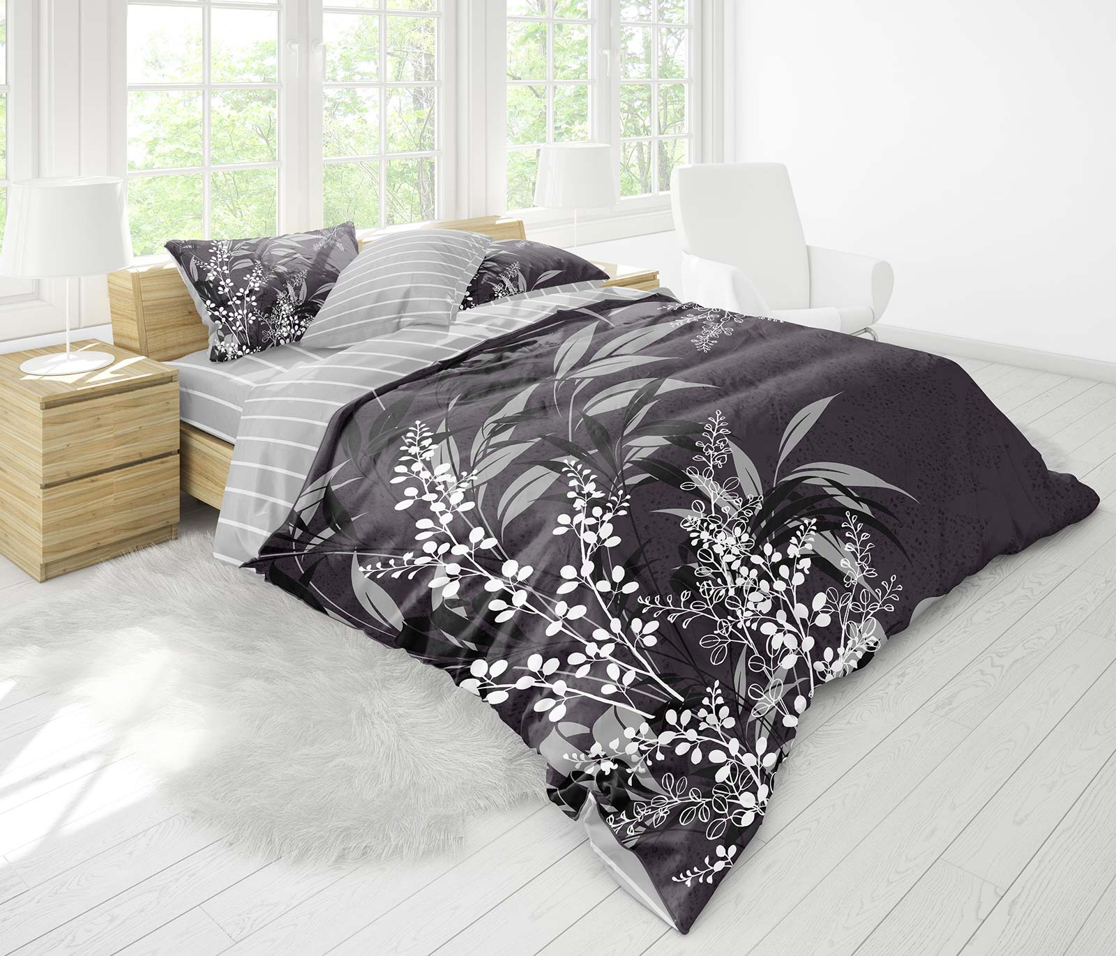 4 Tlg 3d Bettwäsche Bettgarnitur Bettbezug 100 Baumwolle Kissen