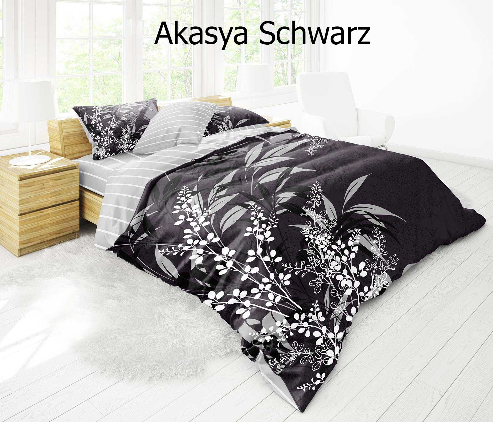 3d bettw sche bettgarnitur 200x220 200x200 220x240 cm 100 baumwolle akasya ebay. Black Bedroom Furniture Sets. Home Design Ideas