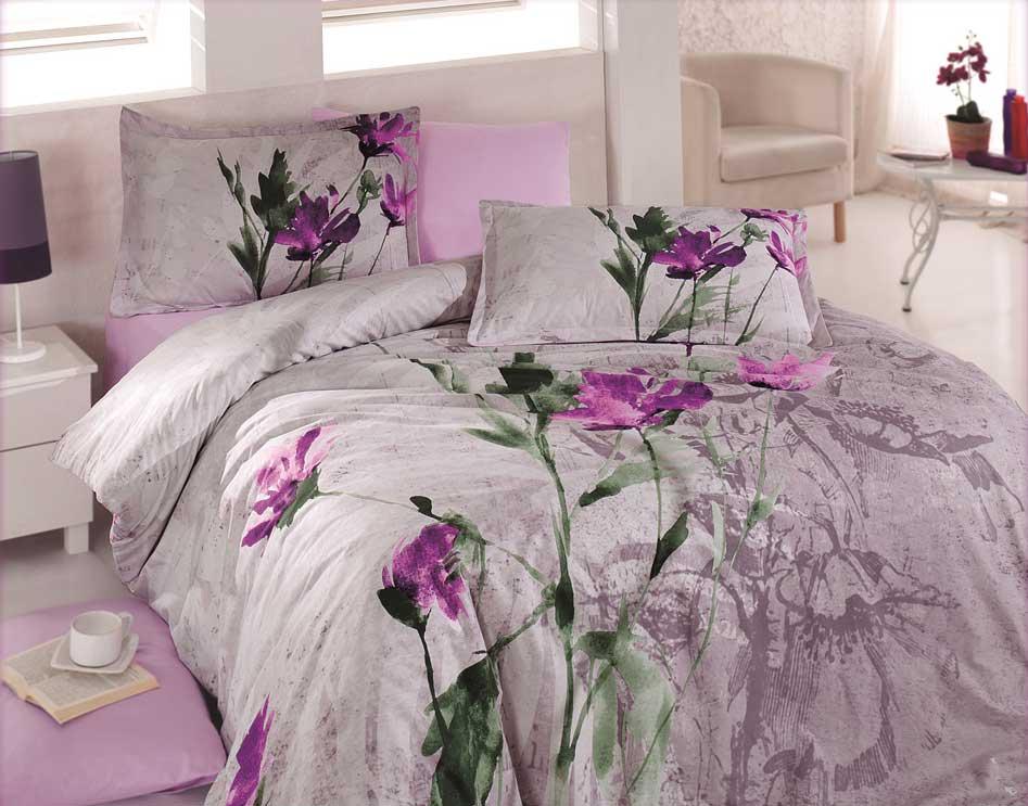 5 tlg bettw sche bettgarnitur bettbezug 100 baumwolle kissen 200x200 cm azra li ebay. Black Bedroom Furniture Sets. Home Design Ideas