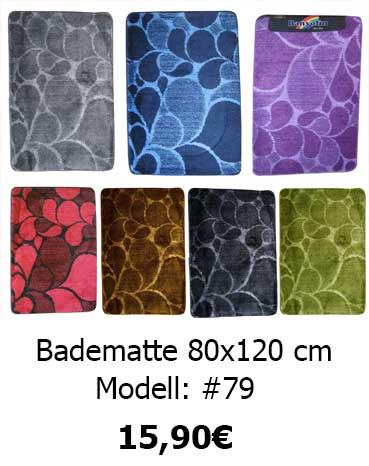 Badematte 60x100 80x150 80x200 cm Badteppich Badgarnitur Vorleger Teppich Bad 48