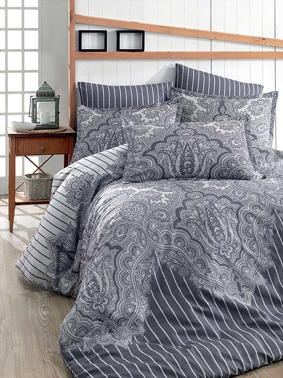 Bettwäsche 220x240 Cm Bettgarnitur Bettbezug Baumwolle Kissen 6 Tlg
