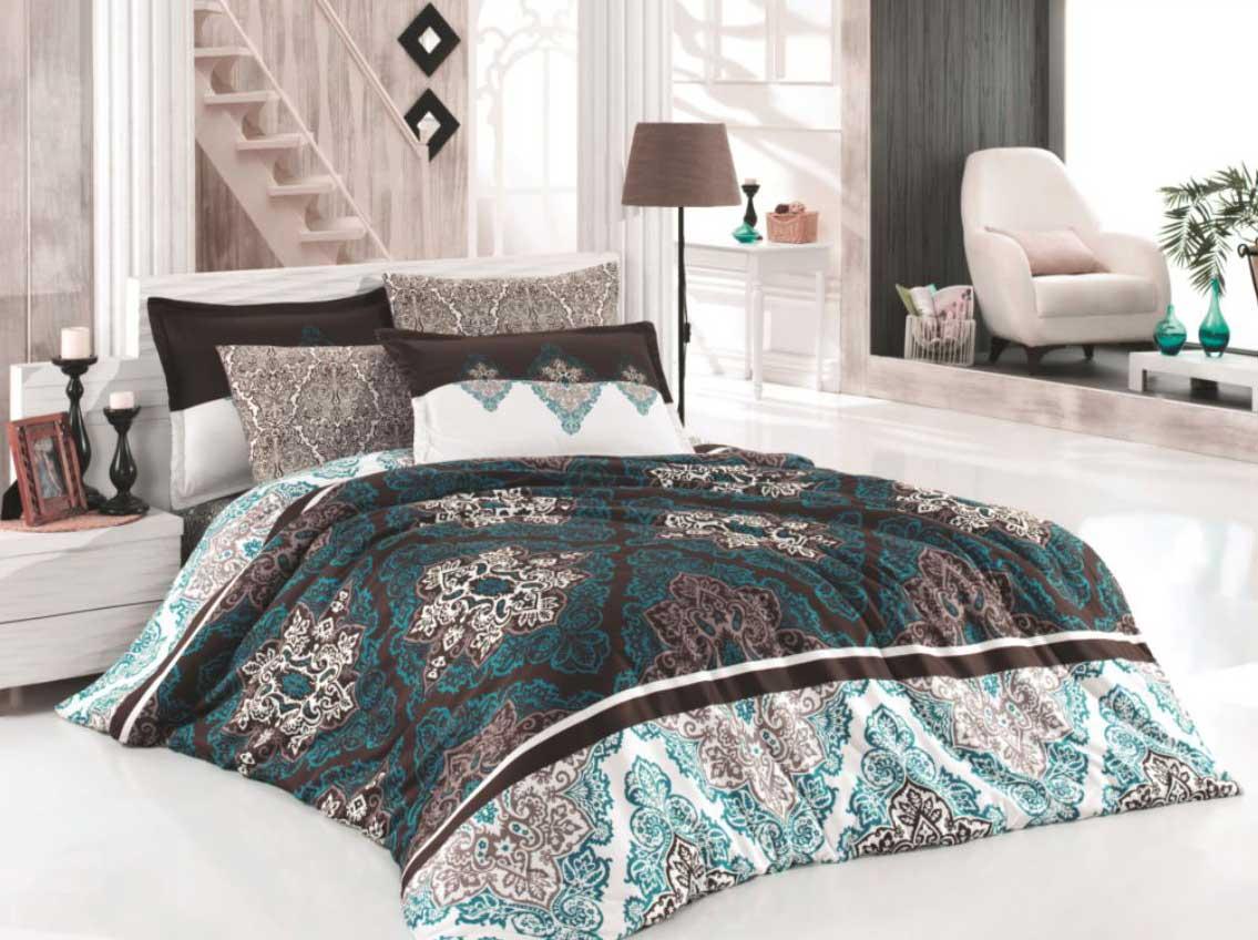 5 tlg bettw sche bettgarnitur bettbezug 100 baumwolle kissen 200x200 cm raps bl ebay. Black Bedroom Furniture Sets. Home Design Ideas