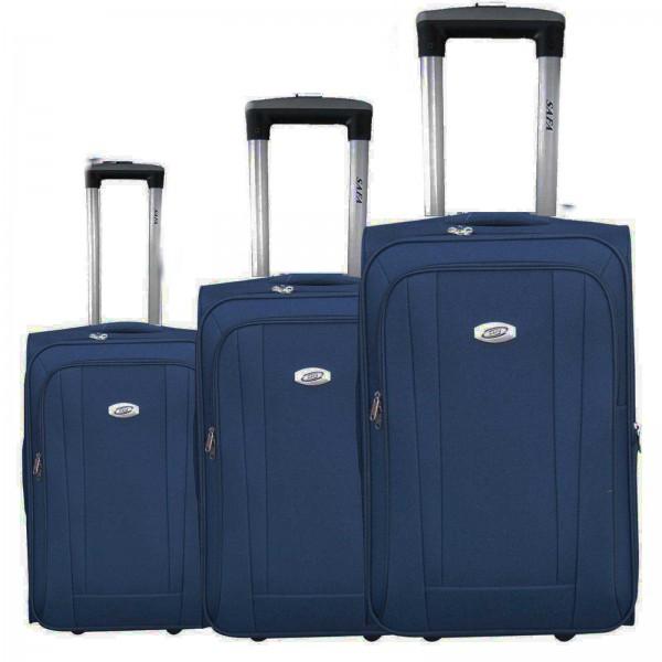 3 tlg Kofferset Koffer Reisetrolley #36 BLAU