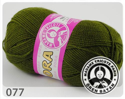 Wolle Garn 5x100 g DORA #077