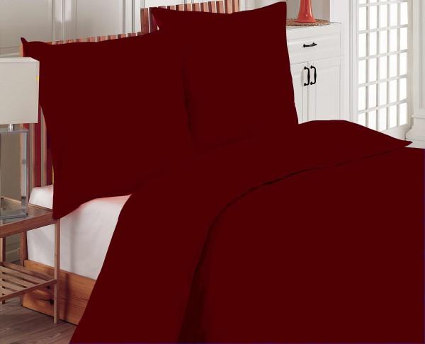 3 tlg 220x240 cm Bettwäsche Bettgarnitur UNI BORDO