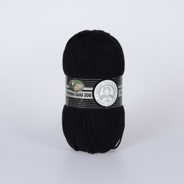 Wolle Garn 5x100 g MERINO GOLD 200 #999
