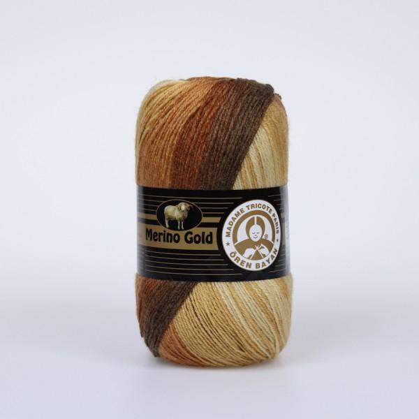 Wolle Garn 5x100 g MERINO GOLD BATIK #804