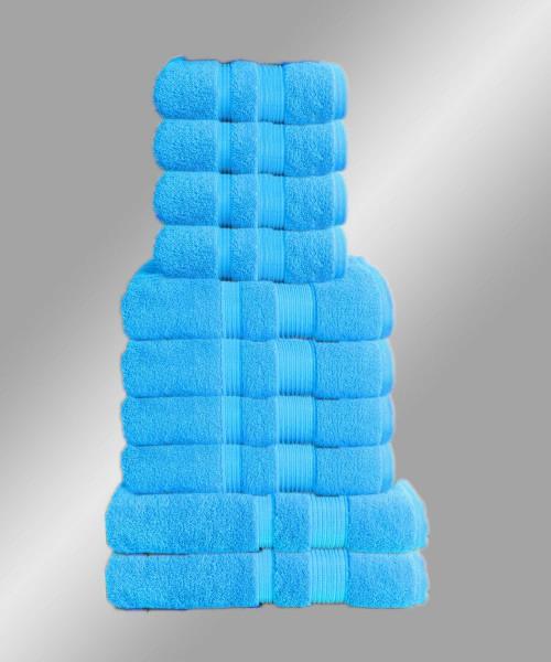 10er Set Handtuch Badetuch Gästetuch Baumwolle Farbe: Türkis