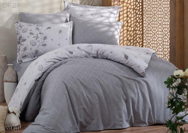 Bettwäsche 155x220 cm Bettbezug Bettgarnitur Baumwolle 3 tlg DF 29