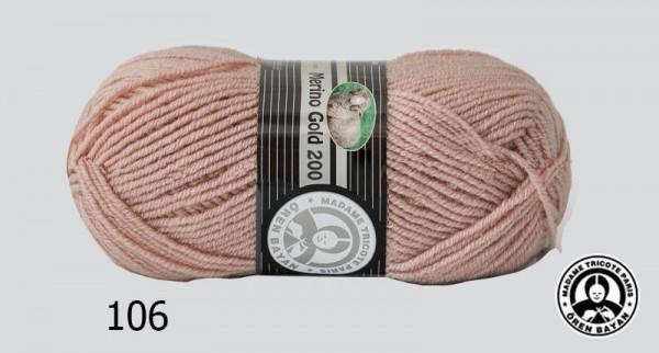 Wolle Garn 5x100 g MERINO GOLD 200 #106